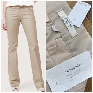 NWT LOFT Khaki Marisa Bootleg Pants
